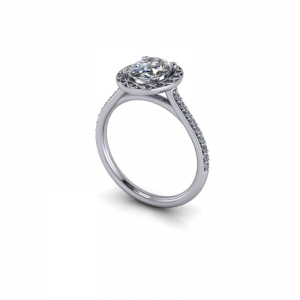 Diamond  ring mount  for 1.00ct Oval diamond.