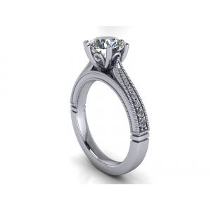 Diamond solitaire ring for 1.50ct