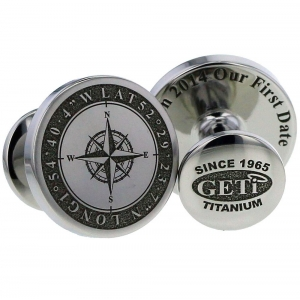 Cufflinks Graphics Engraving