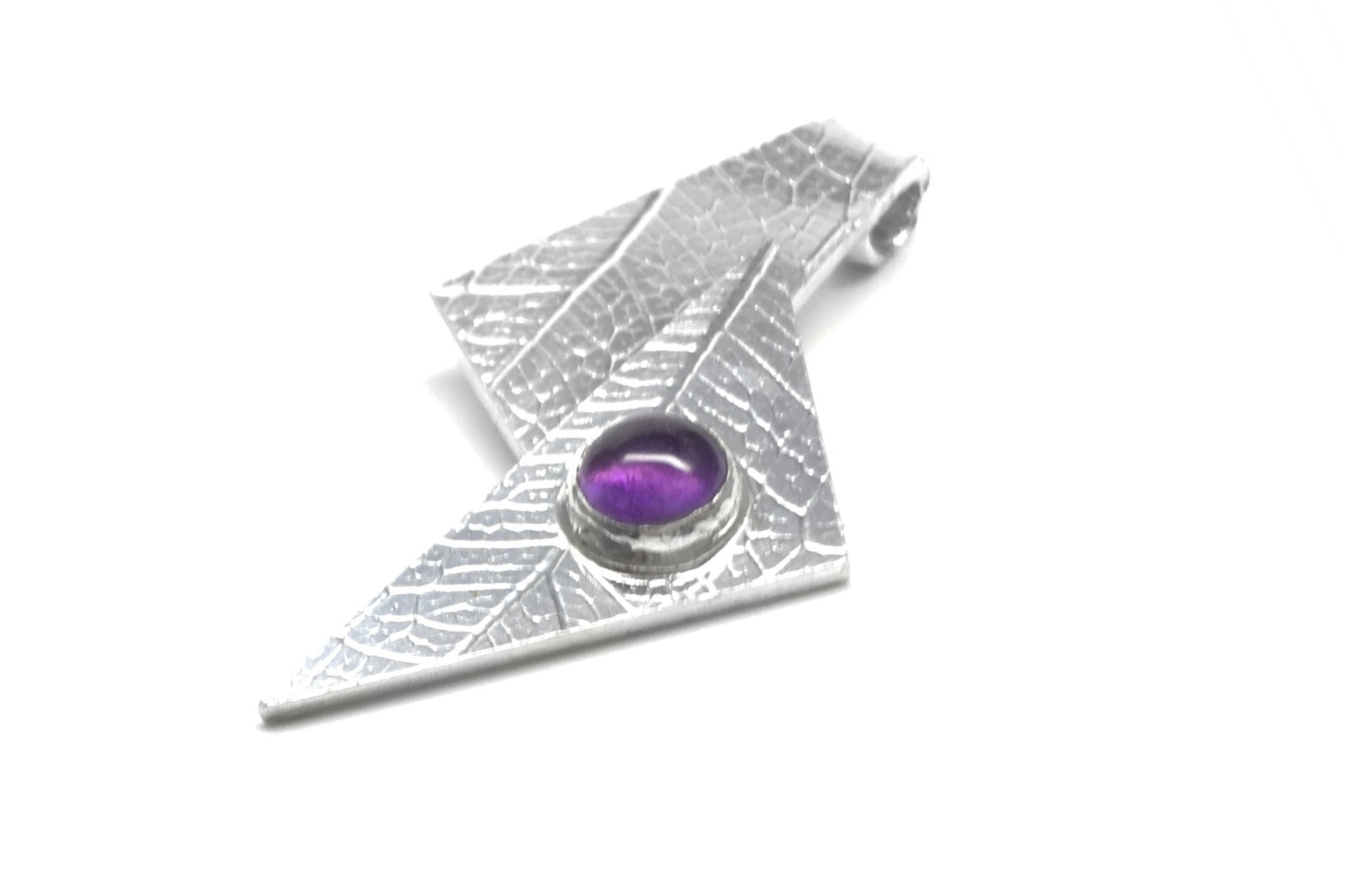 Sterling Silver Pendant with 5mm gemstone